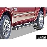 "iBoard Running Boards 6"" Custom Fit 2009-2018 Ram 1500 Crew Cab Pickup 4Dr & 2010-2018 Ram 2500/3500 (Nerf Bars | Side Steps | Side Bars)"