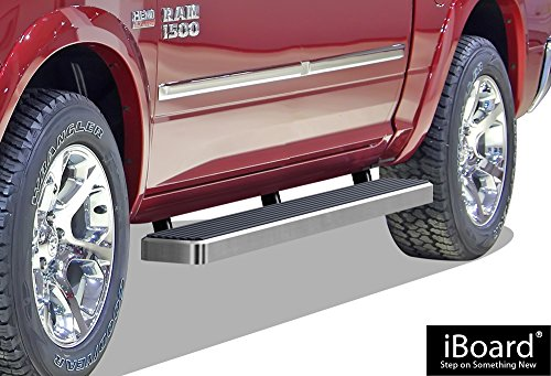 "APS iBoard Running Boards 6"" Custom Fit 2009-2018 Ram 1500 Crew Cab Pickup 4Dr & 2010-2018 Ram 2500/3500 (Nerf Bars 