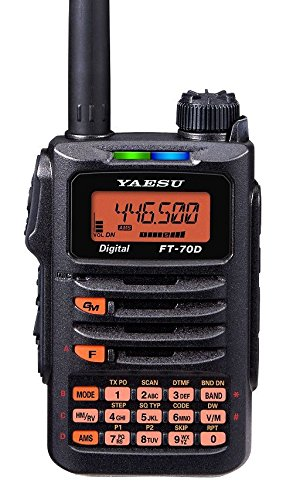 Cheap Yaesu FT-70DR 144/430 MHz DUAL BAND 5W Handheld Transceiver with MARS/CAP Modification for Extended Transmit Frequency Ranges