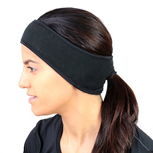 UplifeTrails Ponytail Headband ,Double Layer Ear Warmers,Super Sweat Absorbent, Non-Slip.for Running,Yoga or Any Other Outdoor Indoor Sports Activity