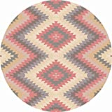 TRIBE WEST Baby Playmat. Easy Clean Round Activity Floor Mat for Crawling Babies, Toddlers, Boy or Girl, 100% Natural Rubber, Durable, Indoor and Outdoor Use. Supporting Global Artisans(Mexican Kilim)