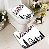 VROSELV Soft Toilet Rug 2 Pieces Set Every Day is a Chance to Change Your Opportunities Poster Print Machine-Washable