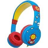Funcl Kids Headphones On-Ear Wired Headphones Children Girls Boys Teens Foldable Adjustable On-Ear Headsets 3.5mm Jack (Blue)