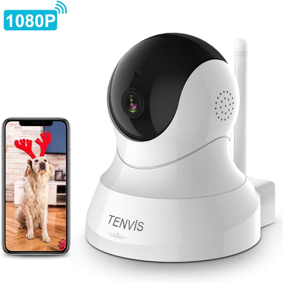 Dog Camera – TENVIS 1080P Indoor Security Camera, Wireless Pet Camera with Phone App Speaker, Baby Monitor Camera with Montion Detection, 2-Way Audio, Night Vision