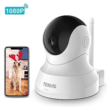 Amazon.com: TENVIS Cámara IP 1080P - Cámara de vigilancia ...
