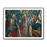 August Macke 'Zoological Garden I' unwrapped canvas is a high quality canvas print is expressionism at its finest featuring people overlooking a garden filled with animals. The sketch-like imagery gives this piece a modern-edge. A timeless ad...