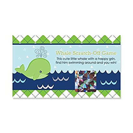 3de099003 Amazon.com: Tale of A Whale - Baby Shower or Birthday Party Game Scratch  Off Cards - 22 Count: Toys & Games