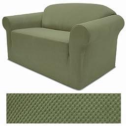 Stretch Pique Balsam Green Furniture Slipcover Sofa 708
