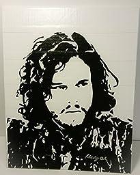 Duct Tape Art Piece of Jon Snow