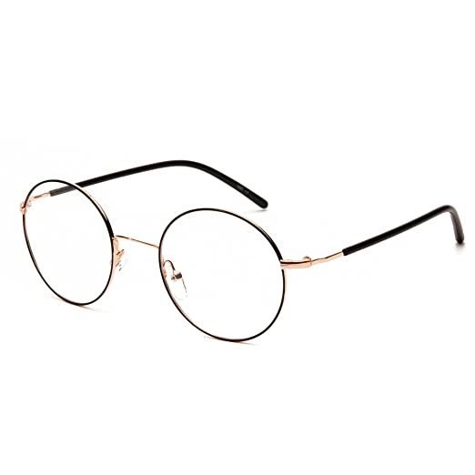 f483f075b7 Langford Round Retro Unisex Non-prescription Clear Lens 50mm Eyewear Frames  With Case And Cleaning
