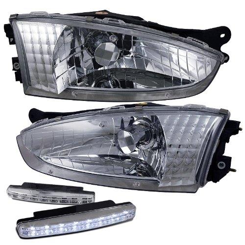 1997-2002 Mitsubishi Mirage Crystal Chrome Headlight Assembly