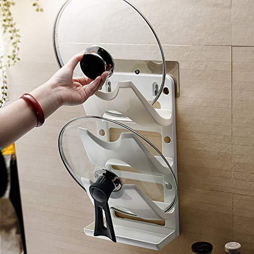 MSOO Wall-Mount Cupboard Saucepan Pan Pot Cover Lid Fresh Tool Storage Holder Rack