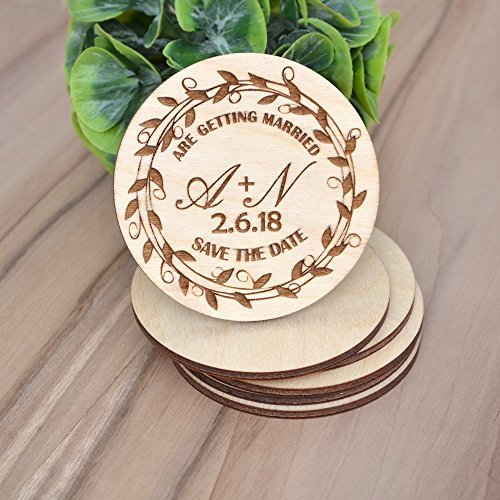 SAVE the DATE Wedding MAGNETS // Wood Save The Date - Personalized Save the Date - Fridge Magnets Save the Date - Engraved Save the Date
