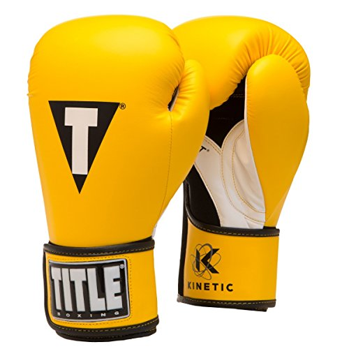 (TITLE Kinetic Aerovent Boxing Gloves, Yellow/Black, 14 oz)