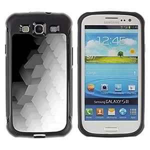 LASTONE PHONE CASE / Suave Silicona Caso Carcasa de Caucho Funda para Samsung Galaxy S3 I9300 / Polygon Pattern Music Art White