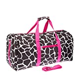 Giraffe Print 22″ Luggage Duffle Bag (Black/White/Pink) Review