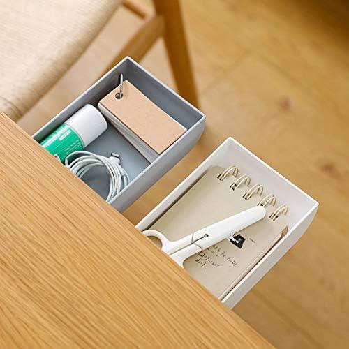 Deng Xuna Unter der Tisch Schublade Creative Hanging Organizer Aufbewahrungsbox Bleistiftablage Selbstklebender Locher Kostenlose versteckte Paste Stil Schreibtisch Schreibwaren Küche Lagerung