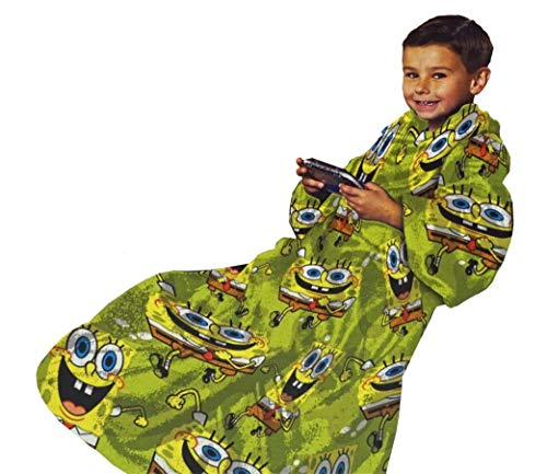 Northwest Company Youth Comfy Throw Blanket with Sleeves, SpongeBob