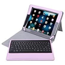 HDE iPad 2 Keyboard Case Wireless Bluetooth Leather Folio Cover Folding Stand for Apple iPad 2 3 4 (Pink)