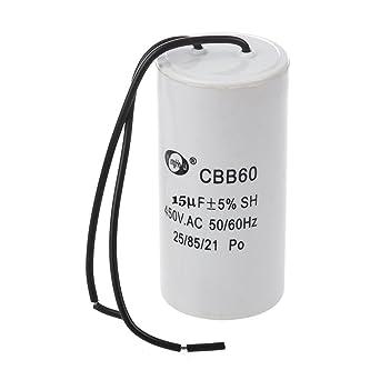Fanuse CBB60 AC 450V 12UF Polypropyl/èNe Film Motor Running Capacitor Grey