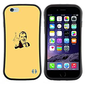 """Pulsar iFace Series Tpu silicona Carcasa Funda Case para Apple (4.7 inches!!!) iPhone 6 / 6S (4.7 INCH) , Cartel del caballero Hombre Usted"""""""