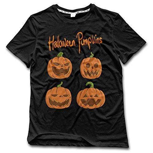 CHALZ Men's Halloween Pumpkins O-Neck Tshirts M Black]()