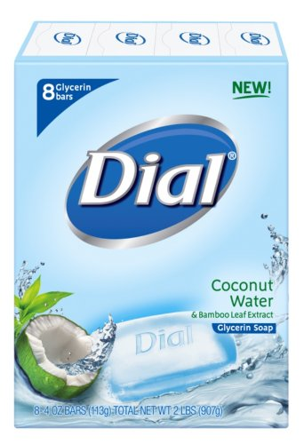 Dial Skin Care Bar Soap, Coconut Water, 4 Ounce, 8 Bars ()