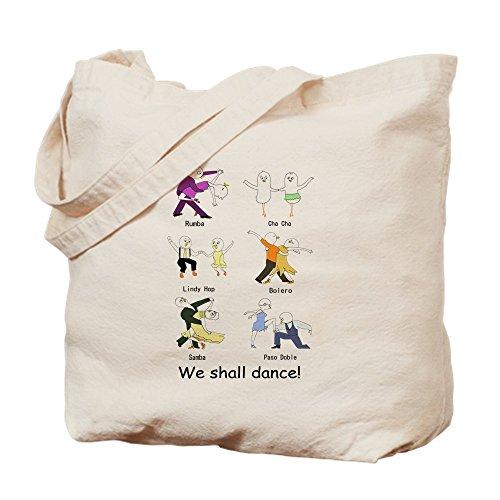 CafePress–salón de baile bailarines–Gamuza de bolsa de lona bolsa, bolsa de la compra Small caqui