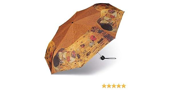 Happy Rain Paraguas Plegable Arte El Beso de Klimt: Amazon.es: Ropa y accesorios