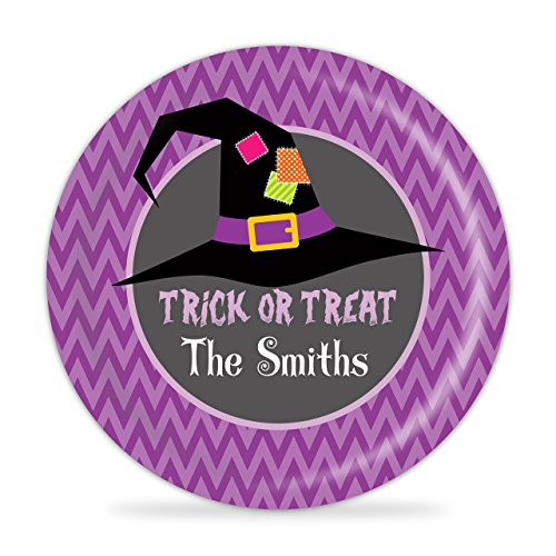 Halloween Plate - Witch Hat, Family Trick Or Treat Plate