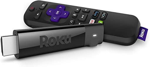 Roku Streaming Stick+ | 4K/HDR/HD Streaming Player with 4X The Wireless Range & Voice Remote with TV Power and Volume