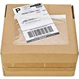 "7.5"" x 5.5"" Clear Plastic Adhesive Packing List Mailing/Shipping Envelope Pouch (100 Pack)"