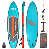 Swonder Premium Inflatable Stand Up Paddle Board, Ultra Durable & Steady, 10'6/11'6 Long 32'' Wide 6'' Thick, Full SUP Accessories- Paddle |Backpack | Leash | Pump |Center Fin, Paddling & Surfing