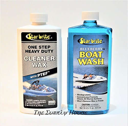 (Star Brite Boat Wash & One Step Heavy Duty Cleaner Wax w/PTEF)