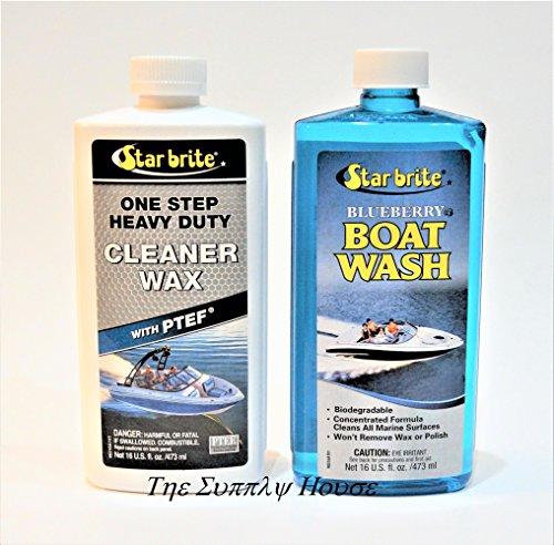 Star Brite Boat Wash & One Step Heavy Duty Cleaner Wax w/PTEF (Star Brite One Step)
