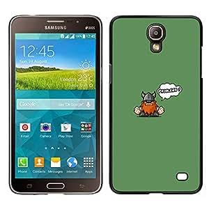 Caucho caso de Shell duro de la cubierta de accesorios de protección BY RAYDREAMMM - Samsung Galaxy Mega 2 - Cute Funny Problemas Vikingo