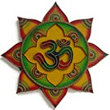 Om Symbol - Om Sign - Wall Painting - Wall Decor for Living Room - Handmade Hand Painted Hand Decorated - Hindu Art - Inspired by Temples In India - Multicolour