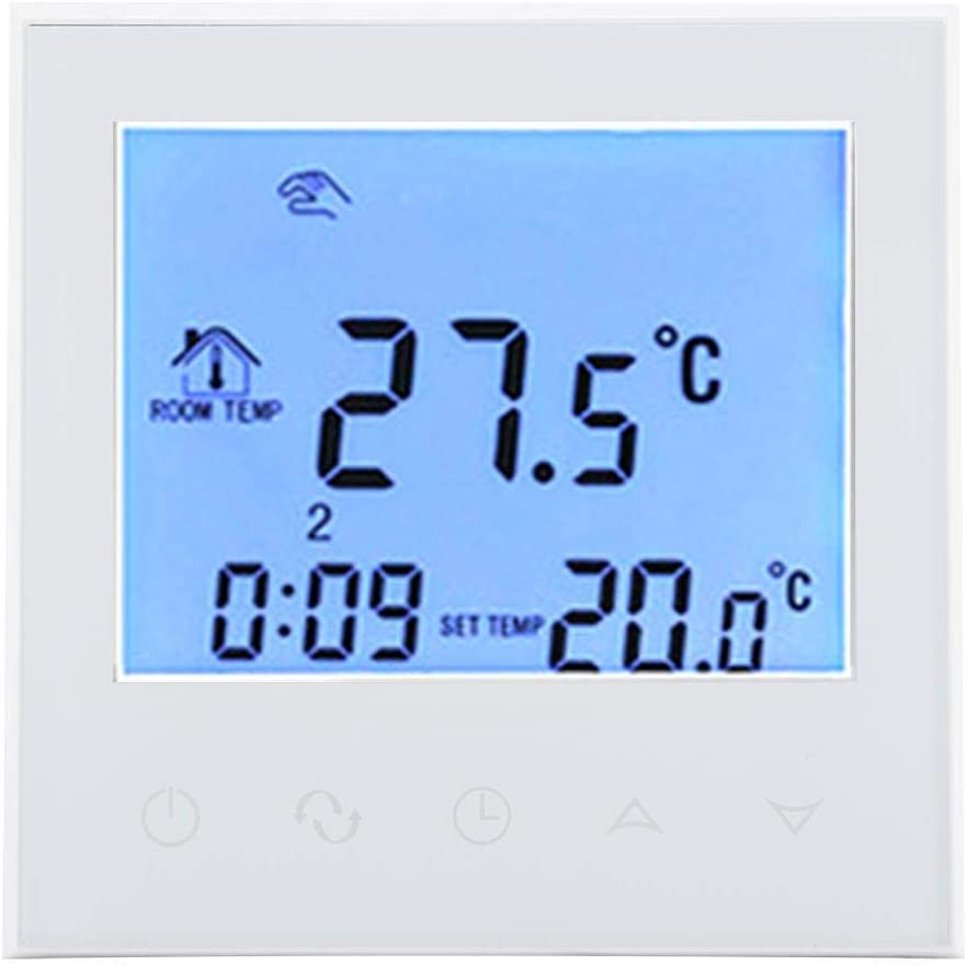 Fdit Smart WiFi Caldera de Gas Termostato programable, Pantalla LCD Digital Regulador de Temperatura, 200-240 V Pantalla táctil Termostato Controlador Temperatura