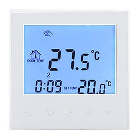 Fdit Smart WiFi Caldera de Gas Termostato programable, Pantalla LCD Digital Regulador de Temperatura,