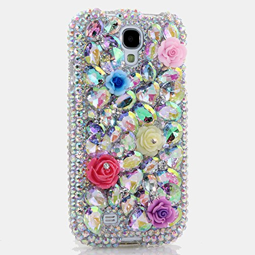 - Galaxy S8 PLUS Case - LUXADDICTION [Premium Quality] 3D Handmade Crystallized Bling Genuine Crystals Cover for Samsung S8+ Plain AB Crystals Posies Design
