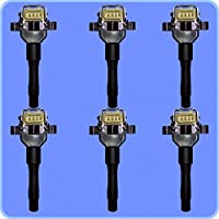 New AD AutoParts High Perofrmance Ignition Coil Set of 6...