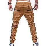 Kirbaez Mens Casual Sport Pants Elastic Waist