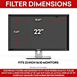"""SightPro 22 inch Computer Privacy Screen Filter (Black) - Privacy Protector for 22"""" 16:10 Widescreen Monitor"""
