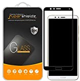 [2-Pack] Supershieldz for Huawei Honor 7X Tempered Glass Screen Protector, [Full Screen Coverage] Anti-Scratch, Bubble Free, Lifetime Replacement Warranty (Black)