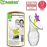 Haakaa Manual Breast Pump w/ Flower Stopper 100% Food Grade Silicone BP Deal