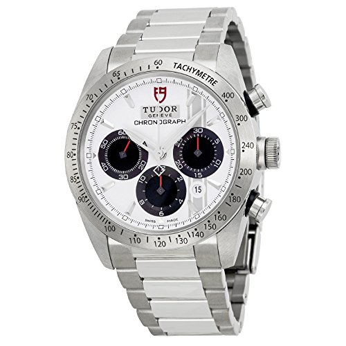 Tudor Fastrider Chronograph White Dial Stainless Steel Mens Watch 42000-WSSS