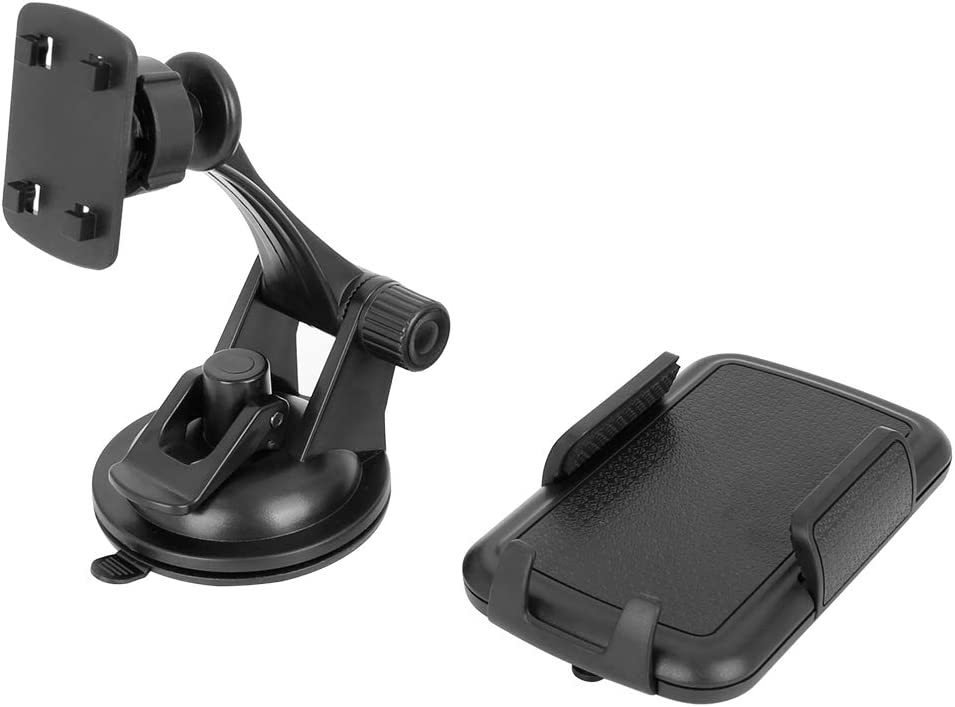 X AUTOHAUX Car Adjustable Strong Suction Windshield Cell Phone Holder Universal Black