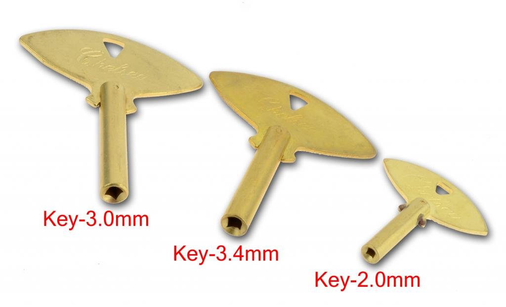 3 Keys Trademark Chelsea Brass Winding Clock Key #5 #0 #3 Keys Parts Brass