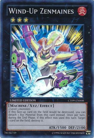 Yu-Gi-Oh! - Wind-Up Zenmaines (CT09-EN008) - 2012 Collectors Tins - Limited Edition - Super - Tin Collectors Edition Limited