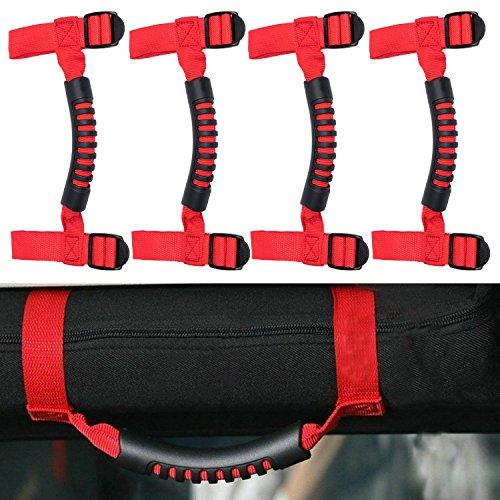 Danti 4 x Roll Bar Grab Handles Grip Handle For Jeep Wrangler YJ TJ JK JK JL JLU Sports Sahara Freedom Rubicon X & Unlimited 1955-2018